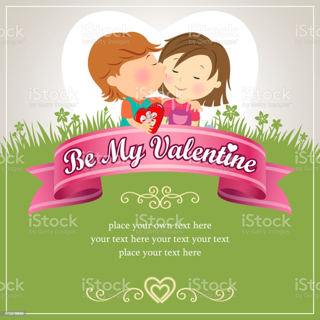 Be My Valentine Kiss royalty-free stock vector art