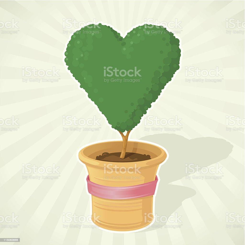 'Be My Valentine' Tree royalty-free stock vector art