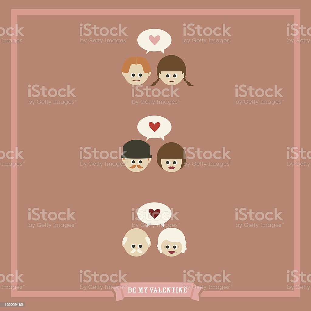 be my valentine royalty-free stock vector art