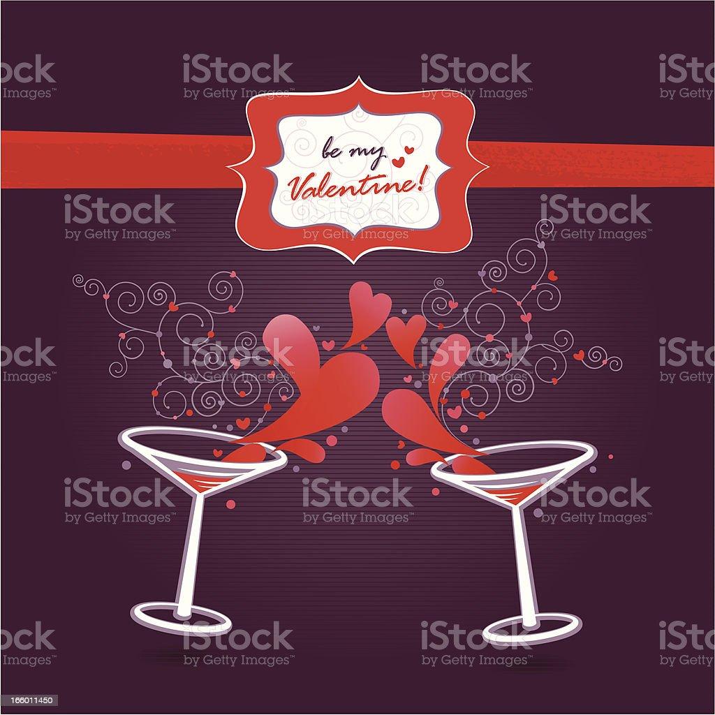 Be my Valentine! (Greetings Card) vector art illustration