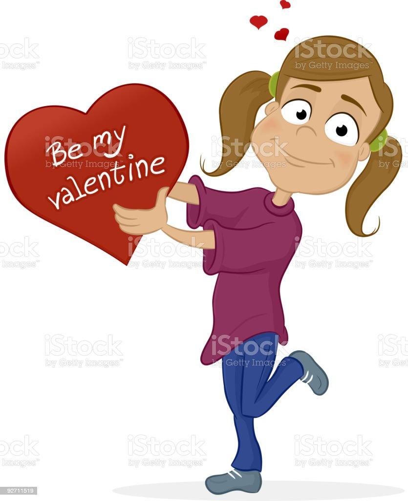 Be My Valentine royalty-free stock vector art