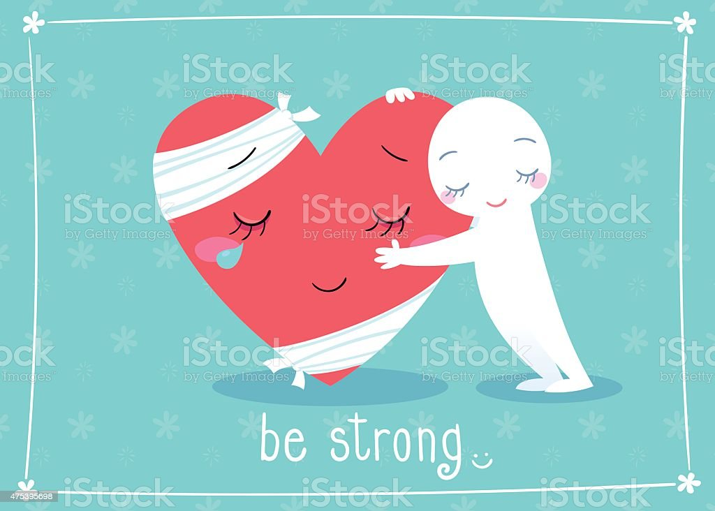 be strong vector art illustration