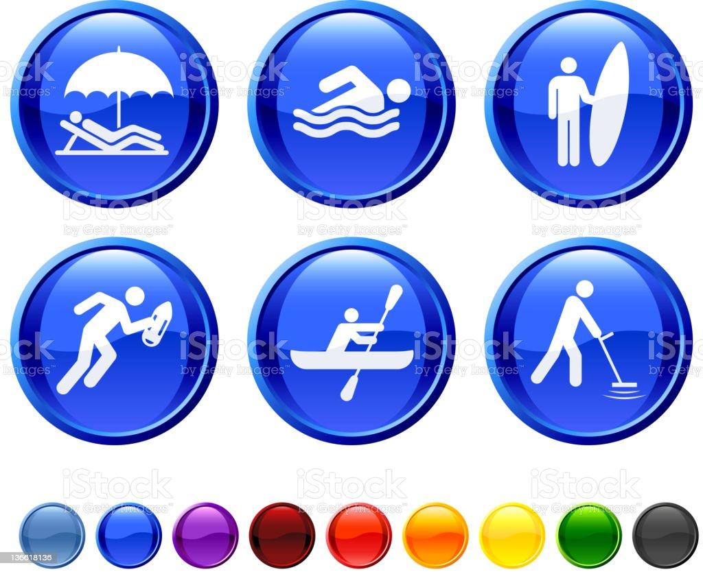 beach activities royalty free vector icon set royalty-free stock vector art