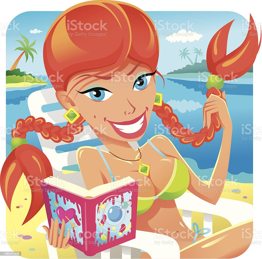 Beach and beauty royalty-free stock vector art