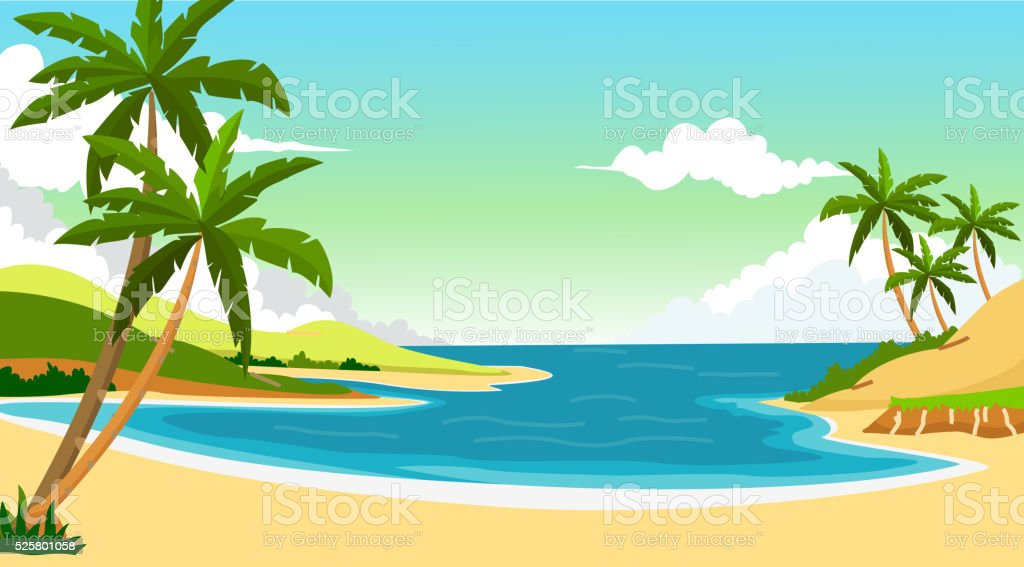 beach background for you design vector art illustration