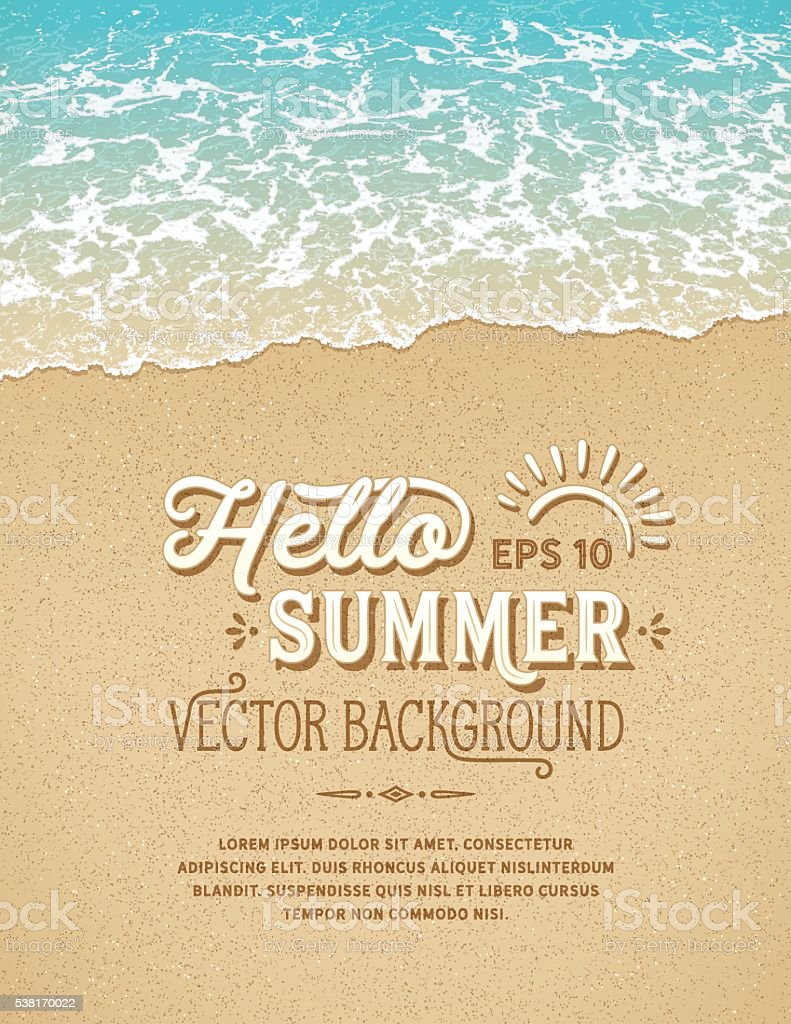 Beach Background vector art illustration