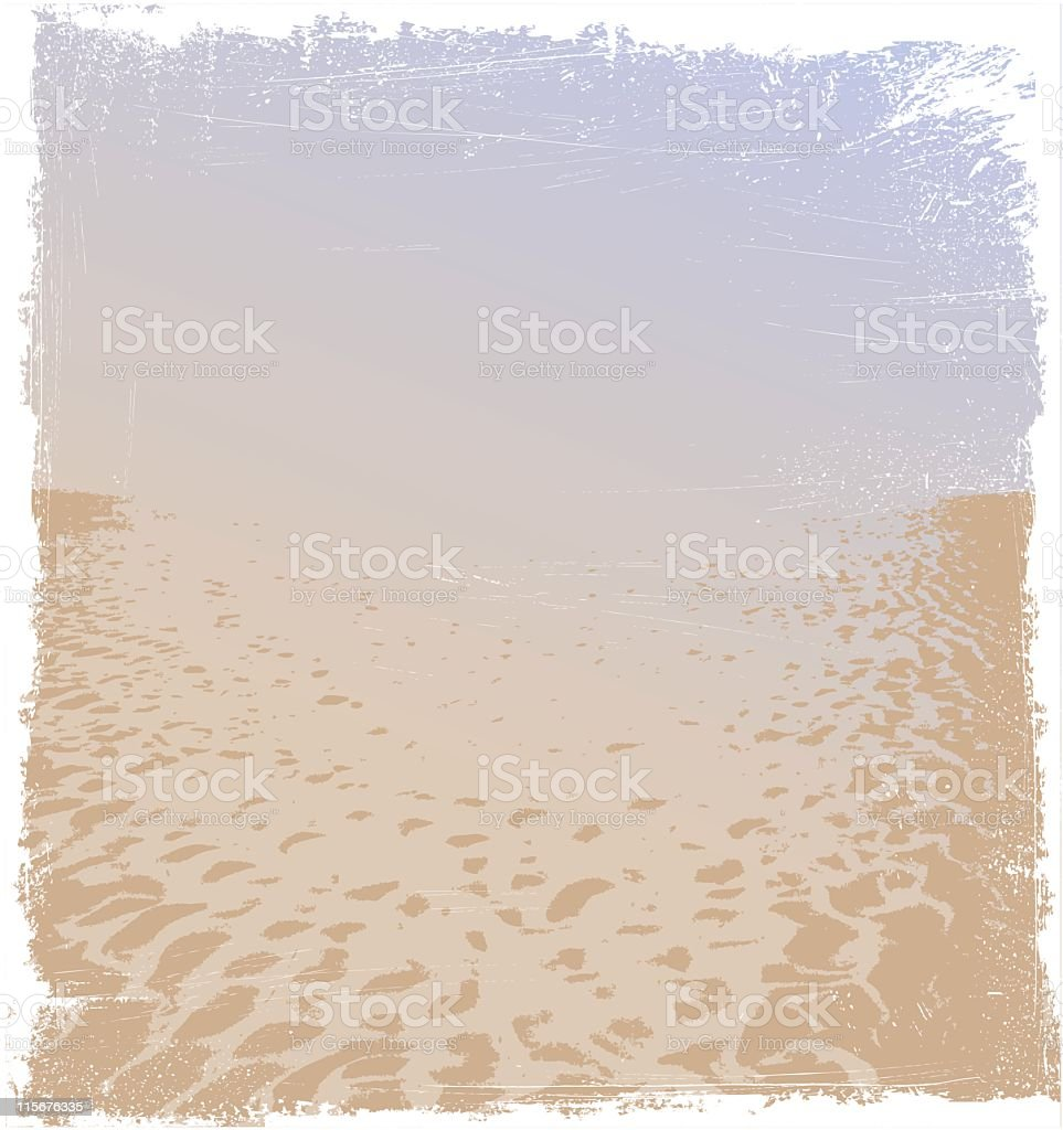 Beach background with grunge effect royalty-free stock vector art