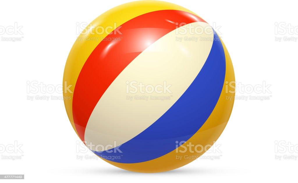 Beach ball Isolated on white background Vector vector art illustration