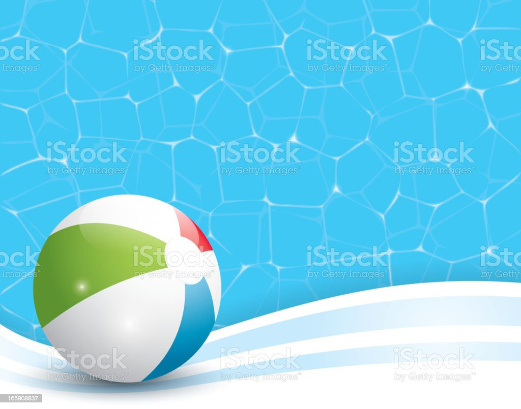 Swimming Pool Beach Ball Background beach ball pool background stock vector art 165908837 | istock