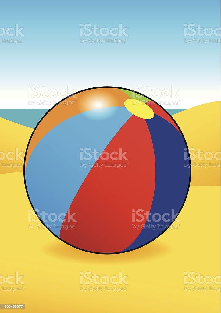 Beach Ball royalty-free stock vector art