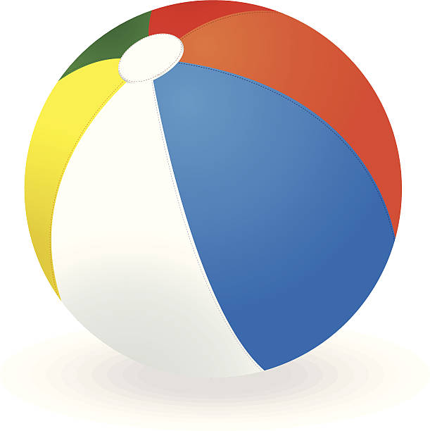 Beach Ball Clip Art, Vector Images & Illustrations - iStock