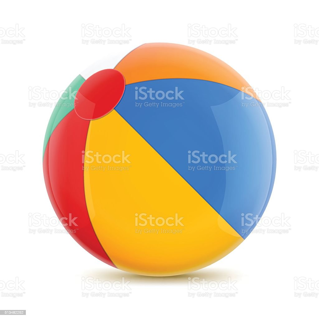 Beach Ball vector art illustration