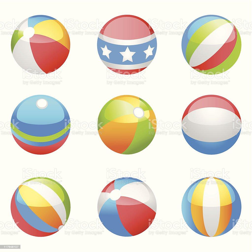 Beach Balls (vector) vector art illustration