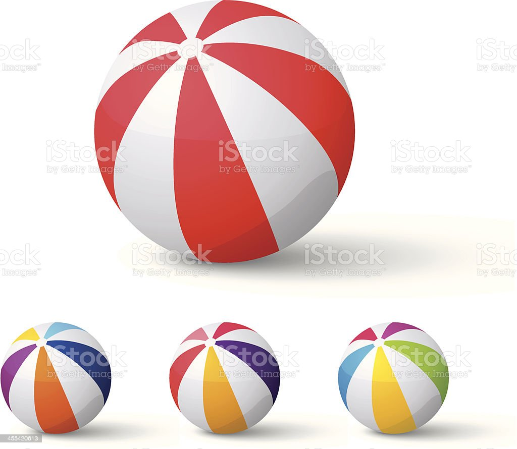 beach balls royalty-free stock vector art