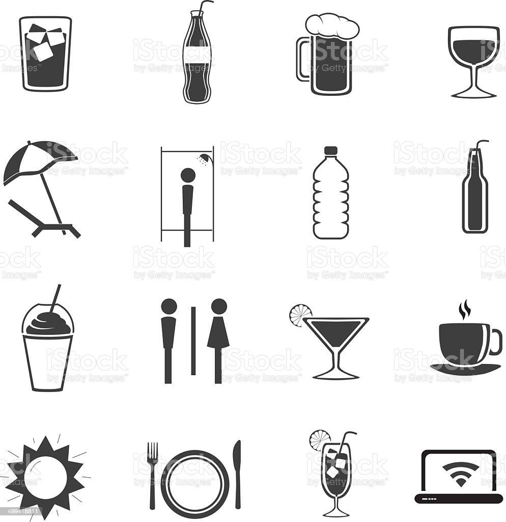 Beach Bar ?con Set V2 vector art illustration