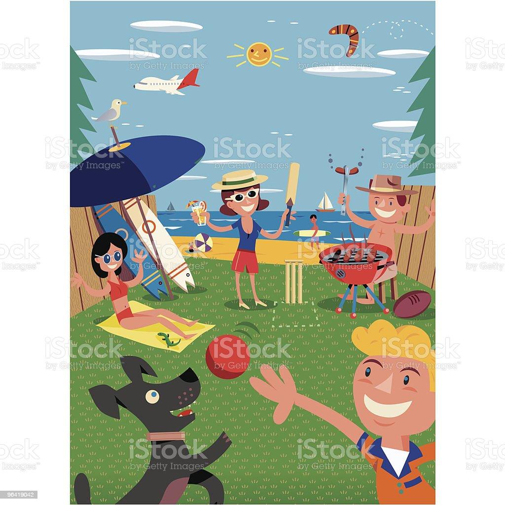 Beach BBQ royalty-free stock vector art
