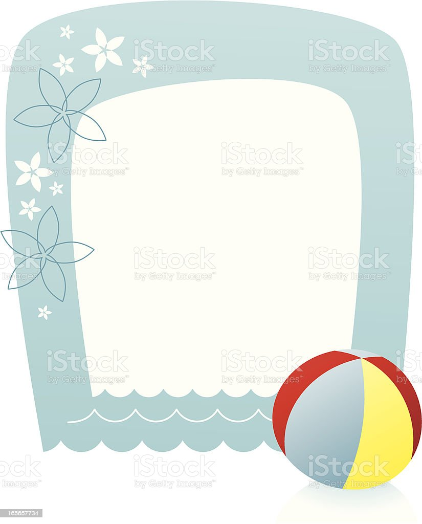 Beach border royalty-free stock vector art