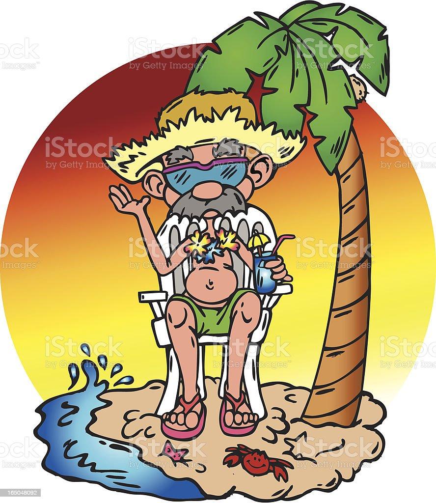 Beach Bum royalty-free stock vector art