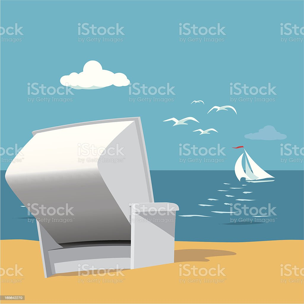Beach Chair royalty-free stock vector art
