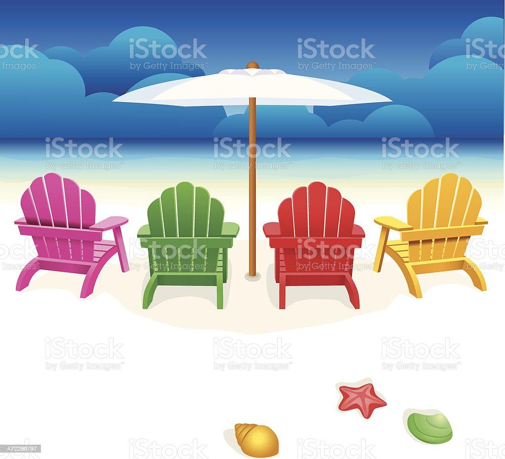 Beach Chair vector art illustration