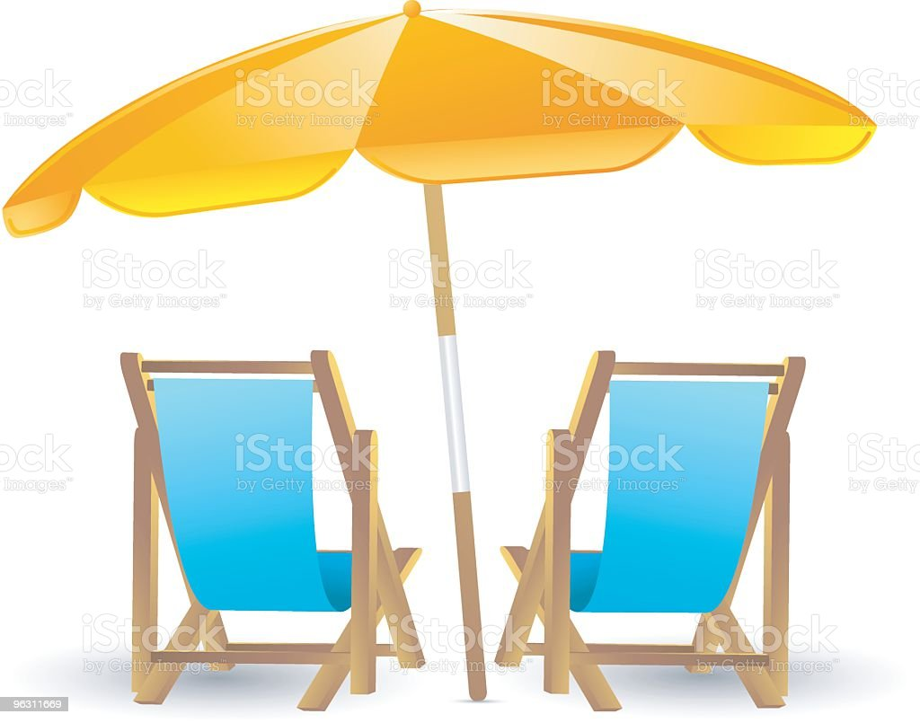 Beach Chairs royalty-free stock vector art