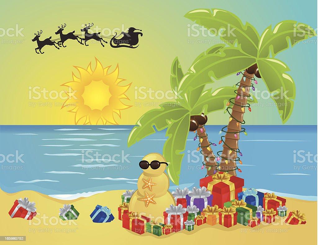 Beach Christmas royalty-free stock vector art