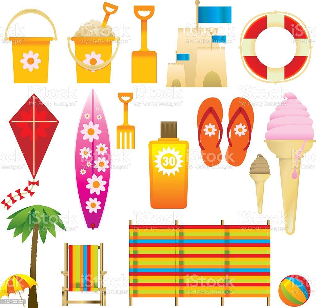 Beach equipment royalty-free stock vector art