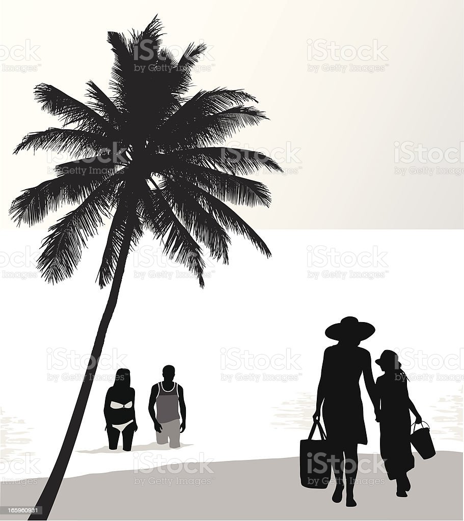 Beach Fashion Vector Silhouette royalty-free stock vector art
