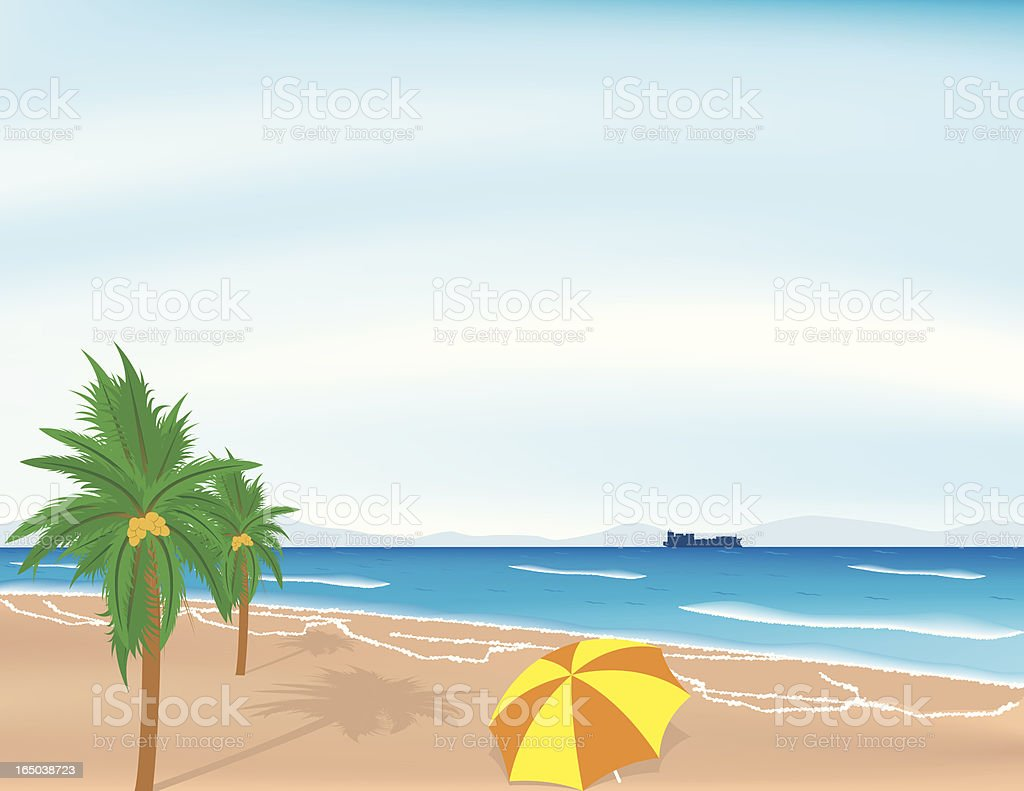 beach front royalty-free stock vector art