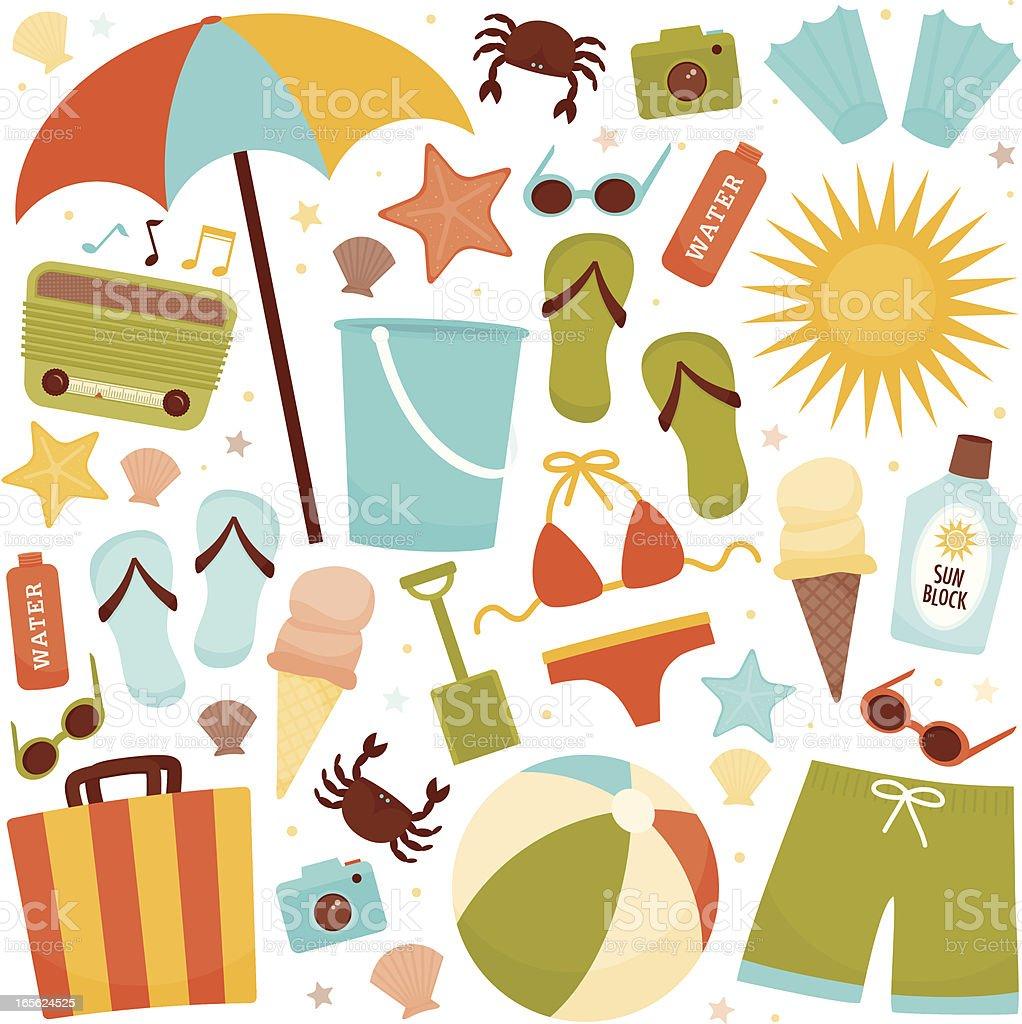 Beach Fun vector art illustration