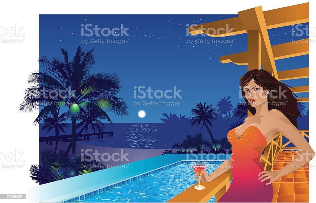 Beach House royalty-free stock vector art