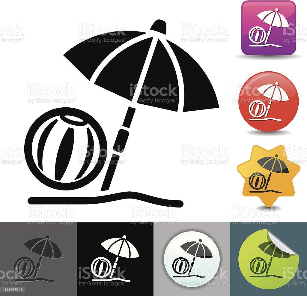 Beach icon | solicosi series royalty-free stock vector art