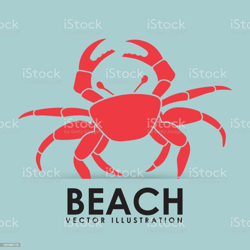 beach icon vector art illustration