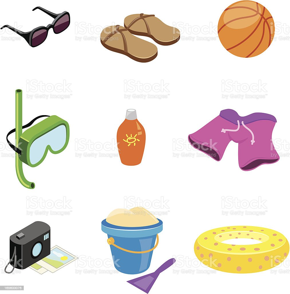 Beach icons | ISO collection royalty-free stock vector art