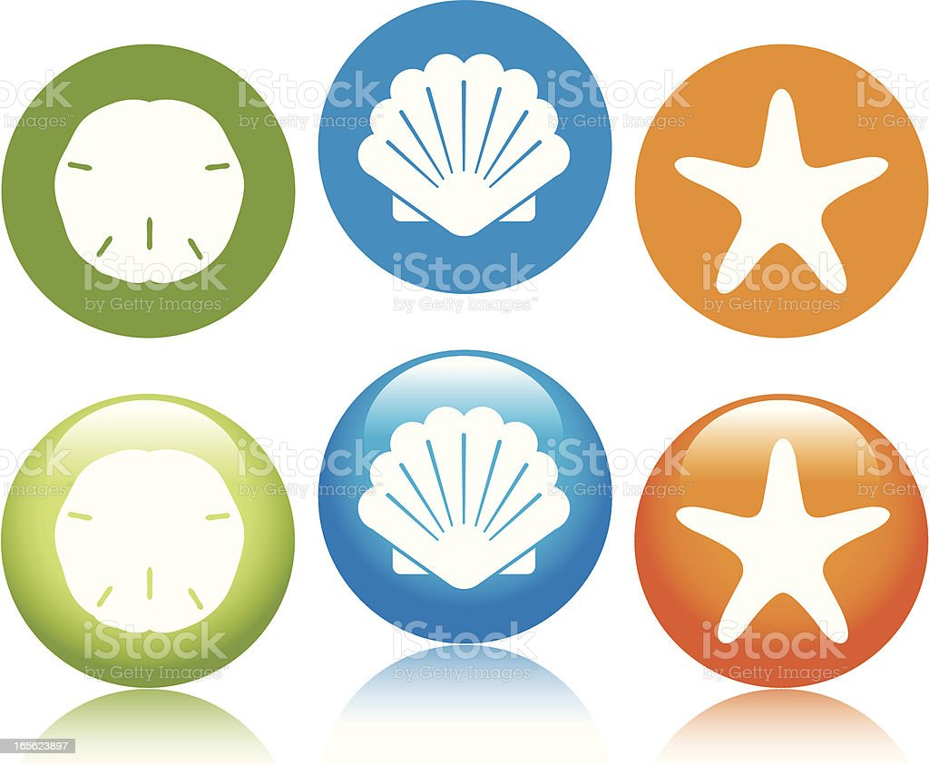 Beach Icons vector art illustration