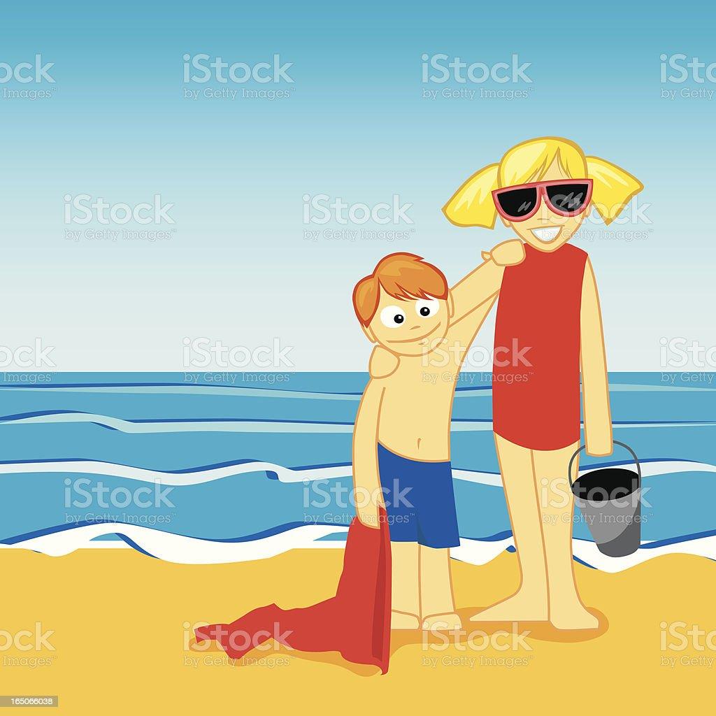 Beach Kids royalty-free stock vector art