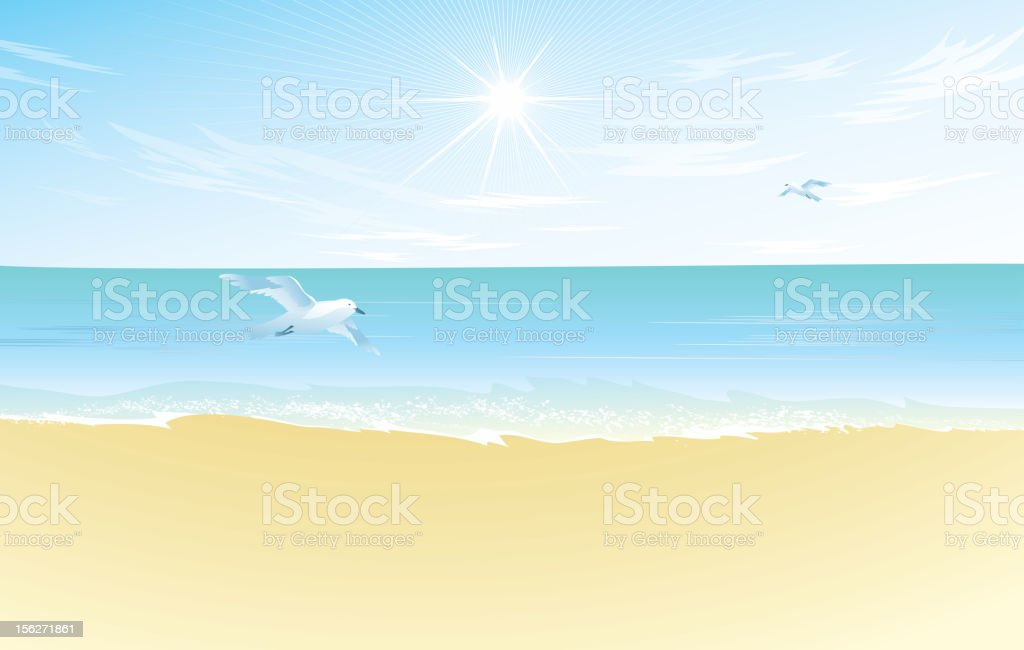 Beach Landscape royalty-free stock vector art