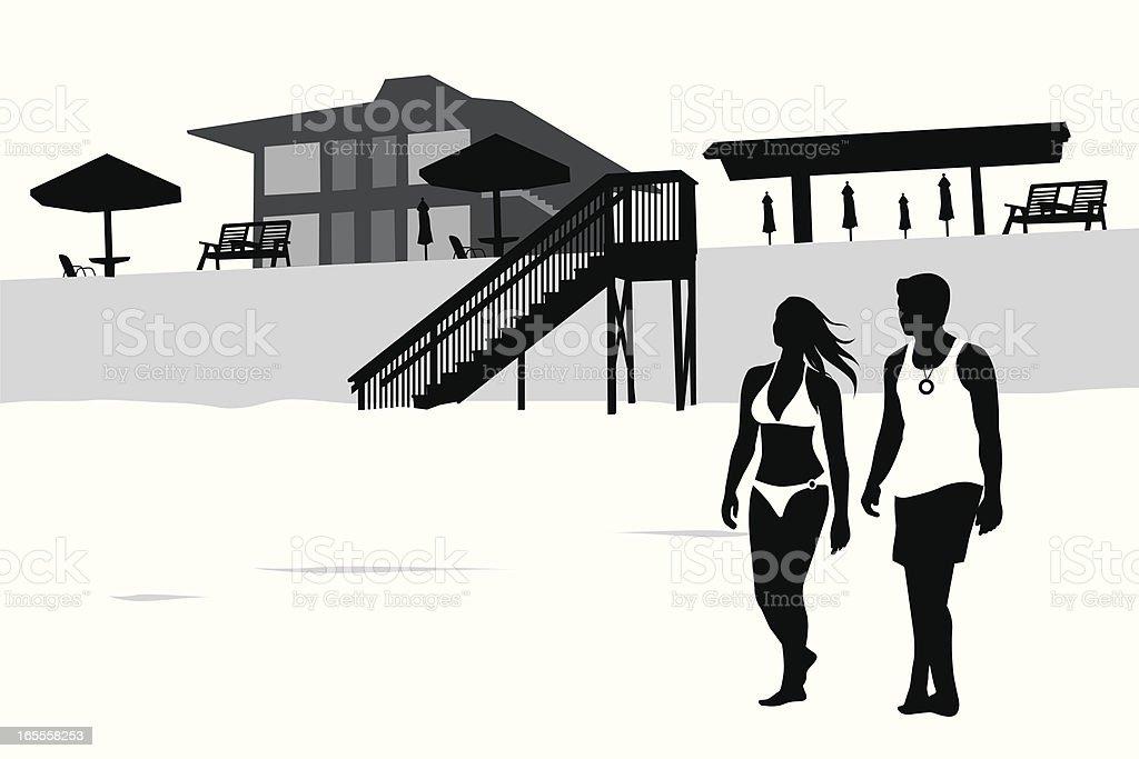 Beach Livin' Vector Silhouette vector art illustration