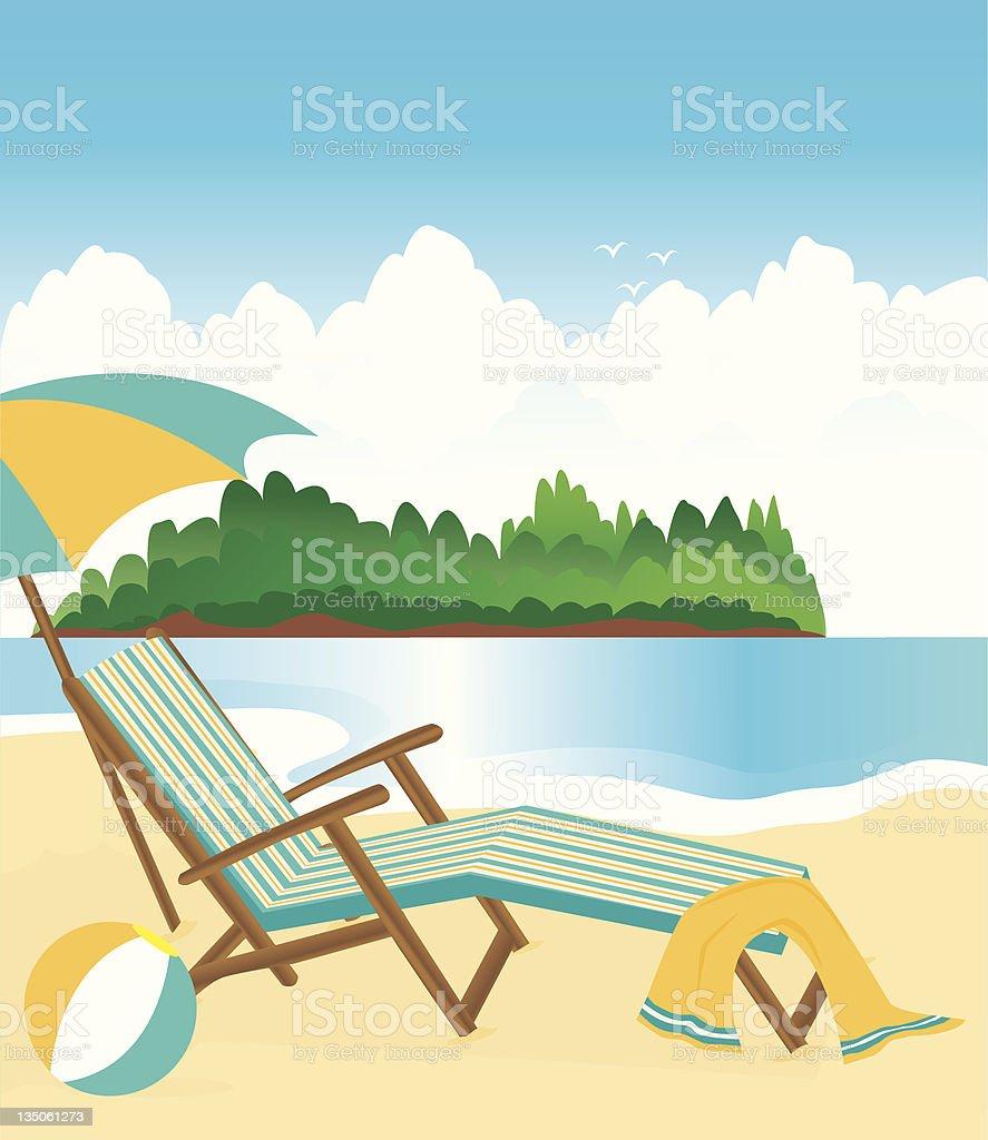 Beach Lounge royalty-free stock vector art
