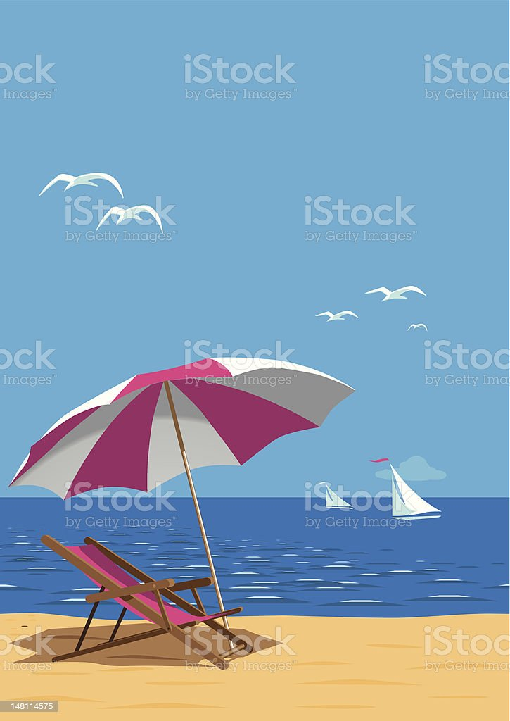 Beach Poster vector art illustration