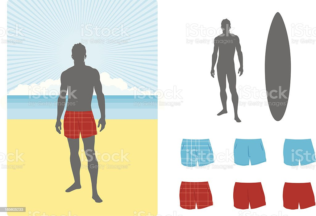 Beach shorts royalty-free stock vector art