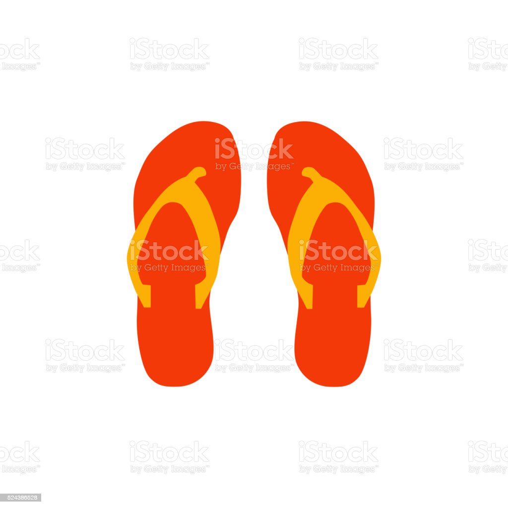 Beach slippers icon vector illustration vector art illustration