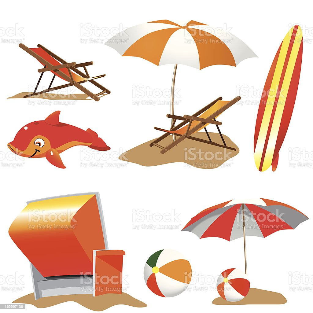 Beach Stuff royalty-free stock vector art