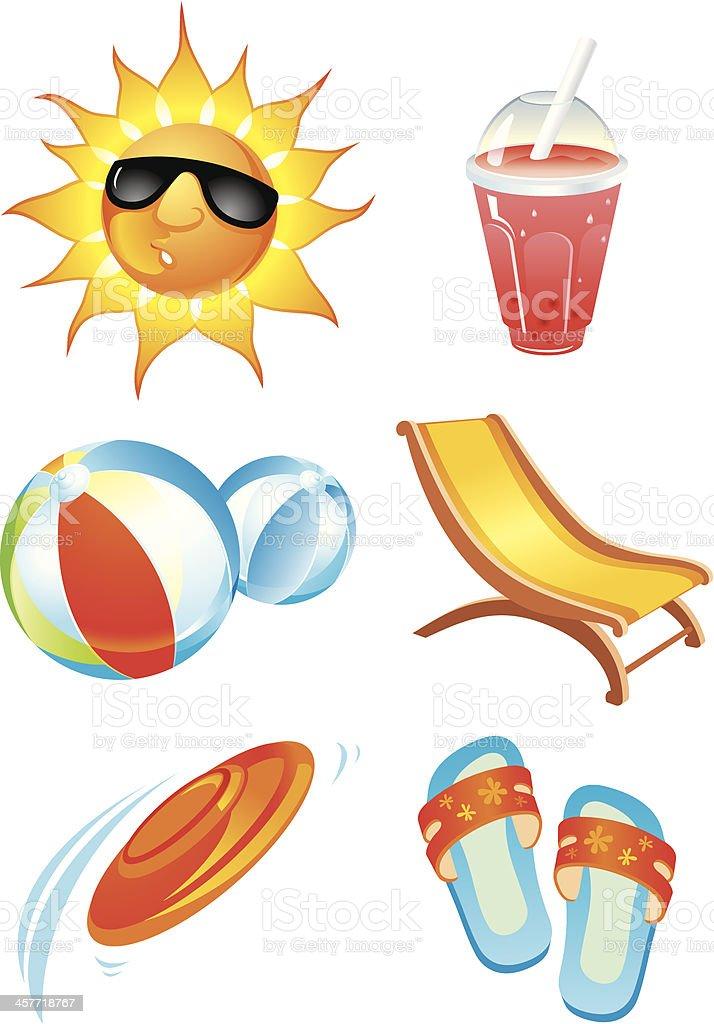 Beach Summer Fun royalty-free stock vector art