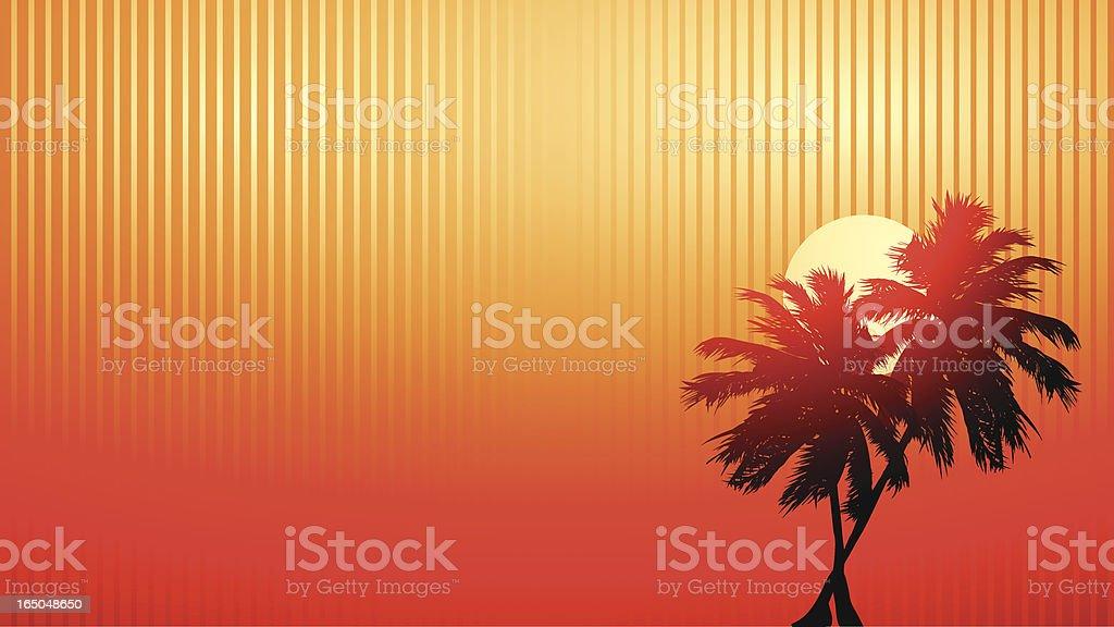 Beach sunset royalty-free stock vector art