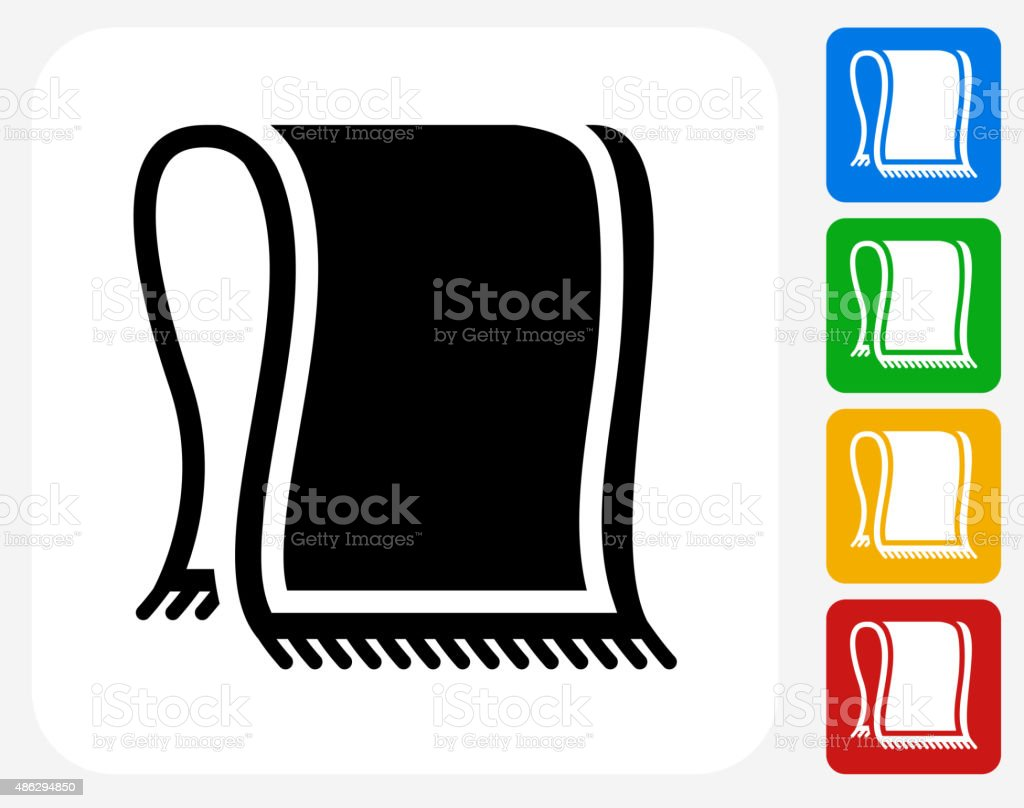 Beach Towel Icon Flat Graphic Design vector art illustration