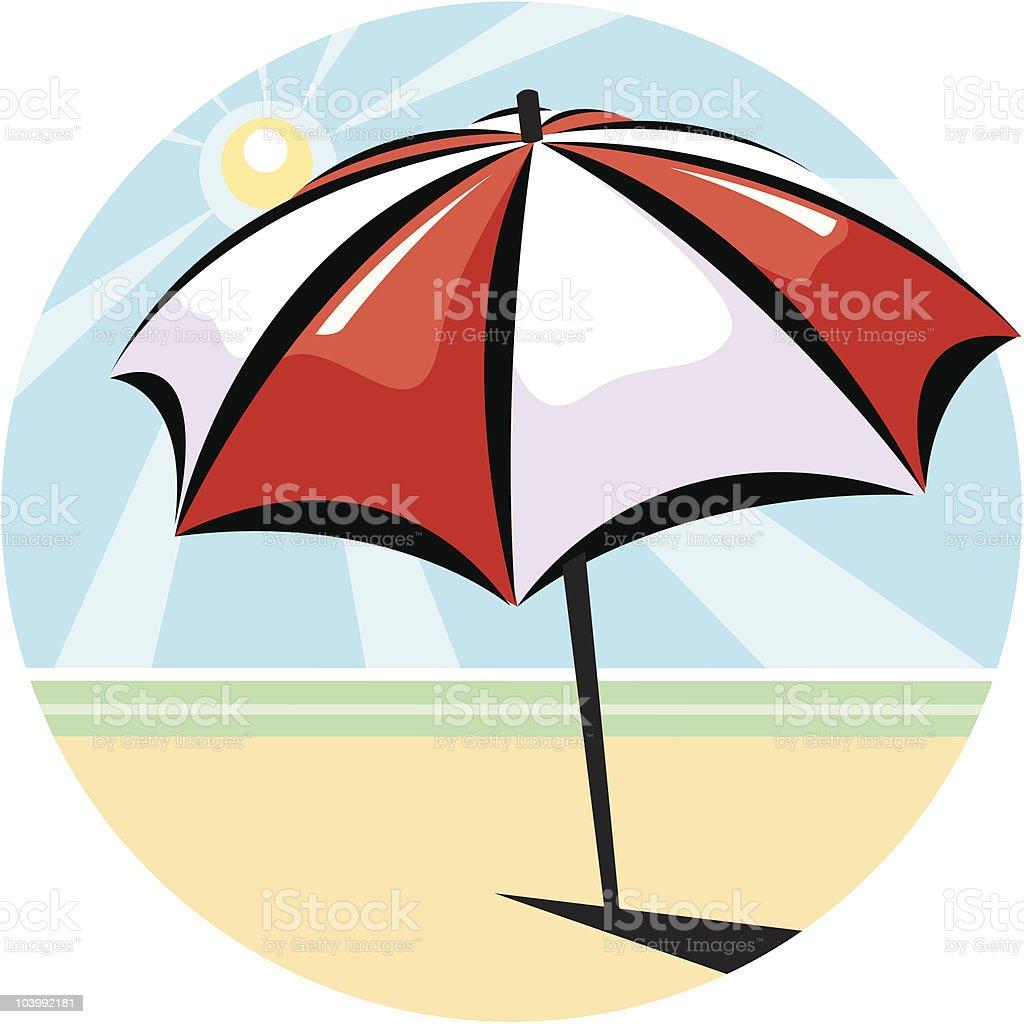 Beach Umbrella royalty-free stock vector art