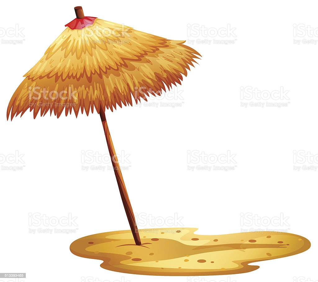 Beach umbrella vector art illustration