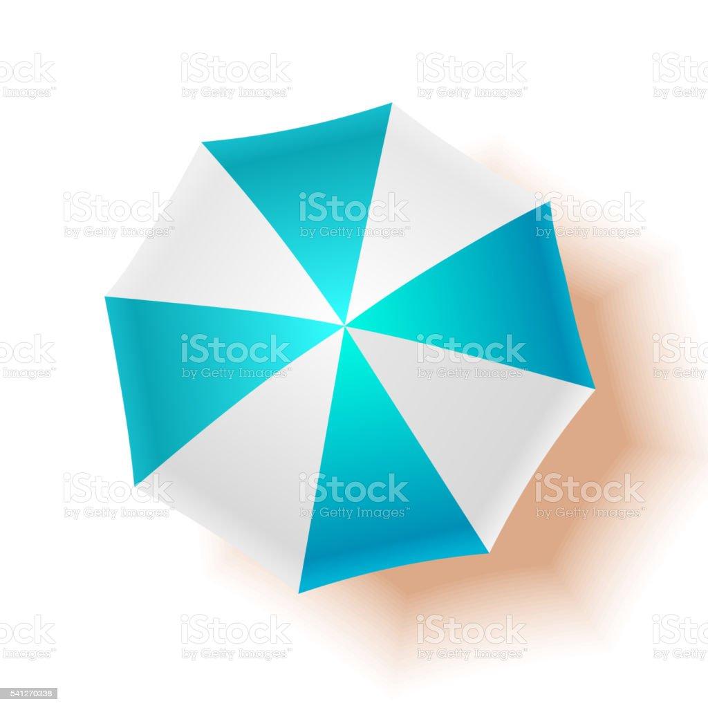 Beach umbrella. Vector illustration vector art illustration