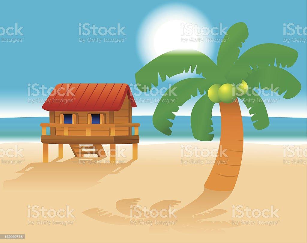 Beach vacation royalty-free stock vector art